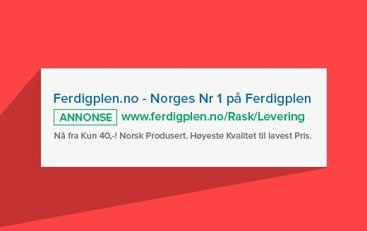 Google adwords for ferdigplen.no